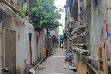 sham: an alley in Sham Shui Po hong kong