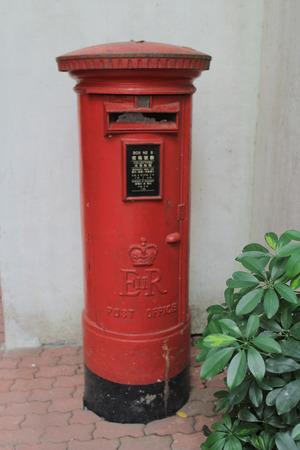 red post box: hong kong red post box