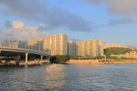 bypass: the trading,  business and Industrial area with Kwun Tong Bypass