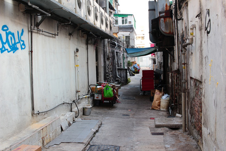 back alley: A Back alley in sai kung