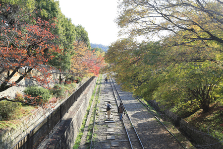incline: the Keage incline, Kyoto in Japan