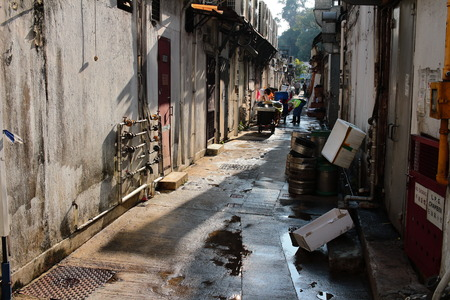 A Back alley in sai kung