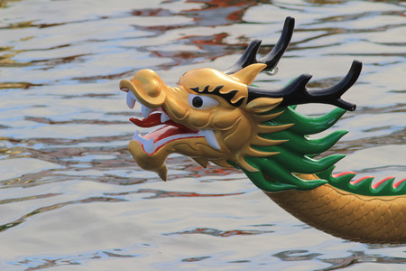 The head of Dragon boat 스톡 콘텐츠