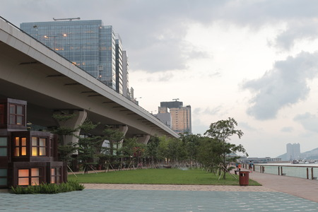the Kwun tong promenade, hong kong 版權商用圖片