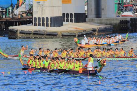 dragonboat: dragon boat race at aberdeen hong kong Editorial