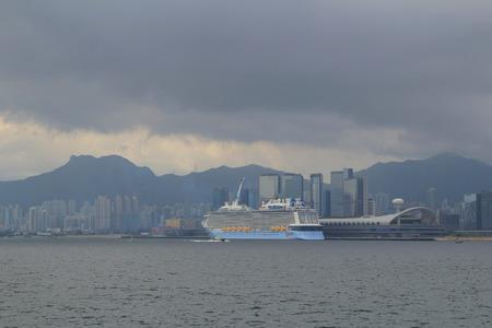 kowloon: view of kowloon bay and kai tak cruise terminal