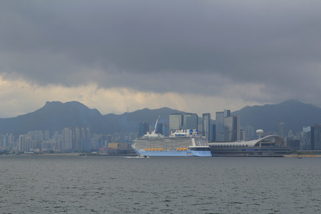 oversea: view of kowloon bay and kai tak cruise terminal