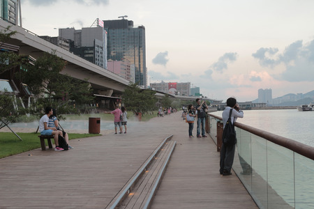 tong: the Kwun tong promenade, hong kong Editorial