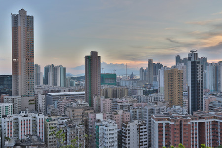 density: a Downtown of Hong Kong, high density, poor area. Editorial