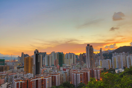 po: a Downtown of Hong Kong, high density, poor area. Editorial