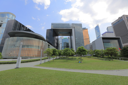 central government: the Central Government Complex in Hong Kong.