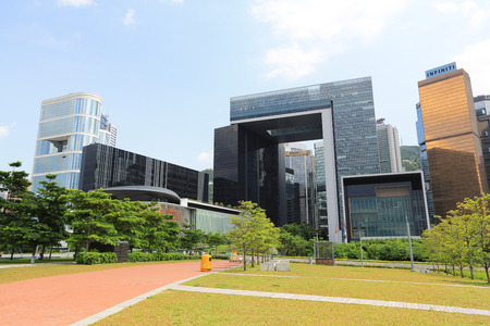 the Central Government Complex in Hong Kong.