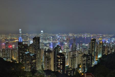 ifc: the Victoria Harbour at night ,Hong Kong China Editorial