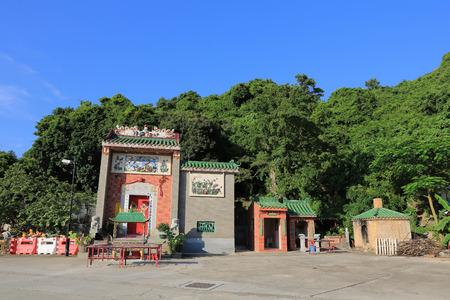 reincarnation: the Tin Hau Temple at Lamma Island Stock Photo