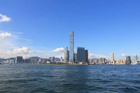 the International Commerce Centre in Hong Kong 스톡 콘텐츠