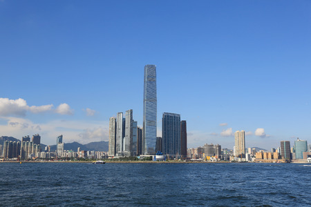 icc: the International Commerce Centre in Hong Kong Stock Photo