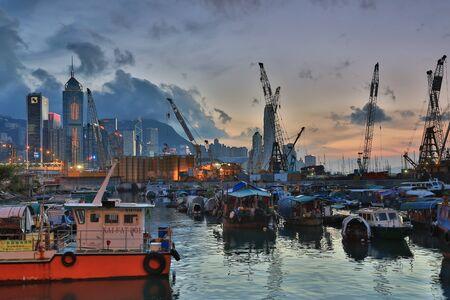 inlet bay: urban of hk at causeway bay typhoon shelter