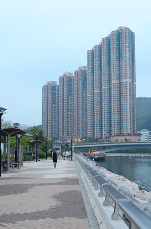 the Tseung Kwan O promenade, hong kong