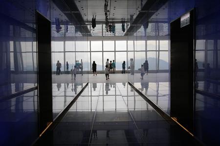 icc: the corridor at ICC of Hong Kong