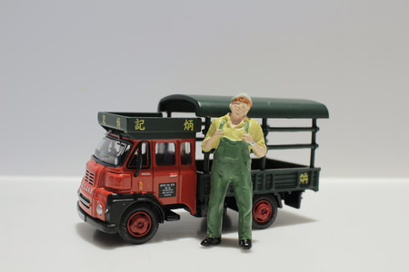 dinky: the Toy tipper truck conceptualizing both work play Editorial