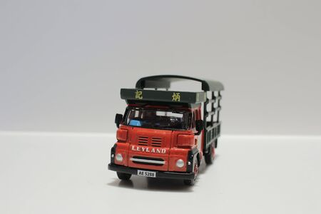 white back ground: a toy truck with white back ground