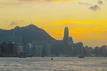 hong kong island: the Hong Kong Island from Kowloon kwun tong district Editorial