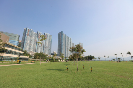 aisa: the hong kong, cyberport at day time Stock Photo