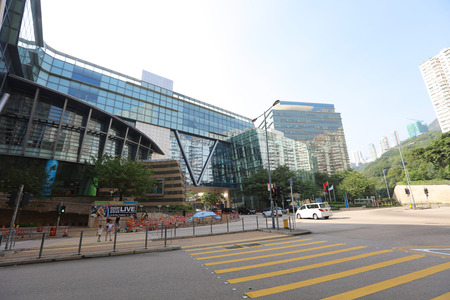 aisa: the hong kong, cyberport at day time Editorial