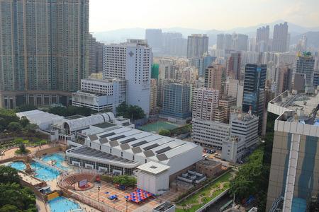 kowloon: the kowloon cityscape of sky Editorial