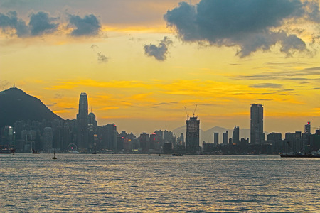hong kong island: the Hong Kong Island from Kowloon kwun tong district Stock Photo