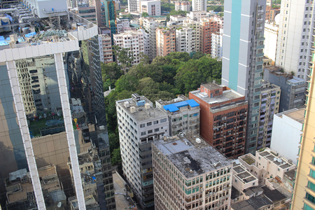 kowloon: the kowloon cityscape of sky Stock Photo