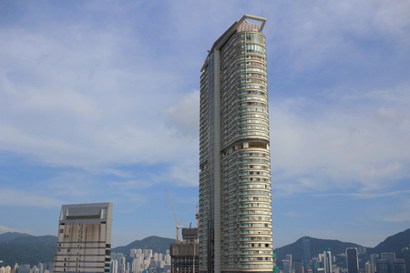 directly below: the Hong kong building from below