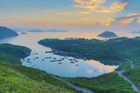 uprise: the Po Toi O from higher perspective, Sai Kung Stock Photo