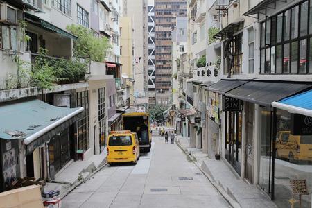 the central bewteen sheung wan , narrow street