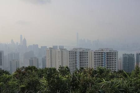 contaminacion del aire: una contaminaci�n del aire se cierne sobre la isla de Hong Kong