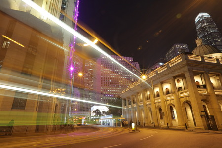 legislative: the Legislative Council Building, Hong Kong at night Stock Photo
