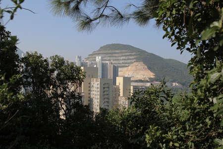 hong kong city: the Hong Kong city building at day