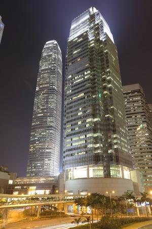 ifc: the Night view at central  Hong Kong