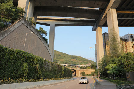 ting: the highway and Ting Kau bridge Stock Photo