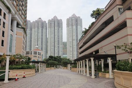 sham: the Hong Kong new housing at SHAM TSENG Stock Photo