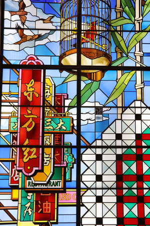A stained glass window design at hk 新闻类图片