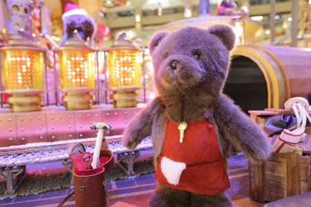 bustle: Christmas decorations in the streets in 2015 at Hong Kong,