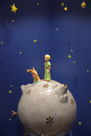 Monument Little Prince from the story Le Petit Prince 版權商用圖片 - 50489064