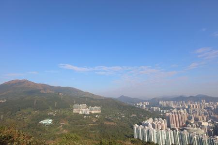 kowloon: View of Downtown Kowloon Hongkong from Tsuen Wan