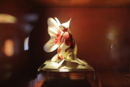 curio: the gold fish theme of art at china Stock Photo