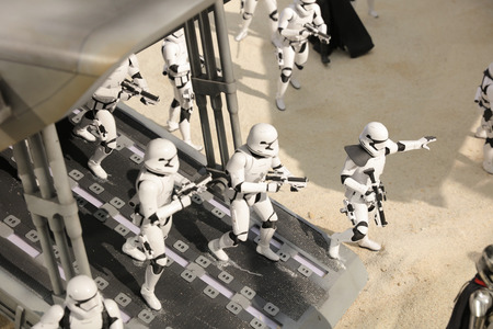 starwars: the army of miniature model Stormtroope Editorial
