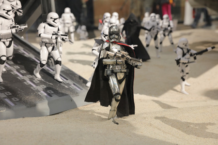 display figure: the army of miniature model Stormtroope Editorial