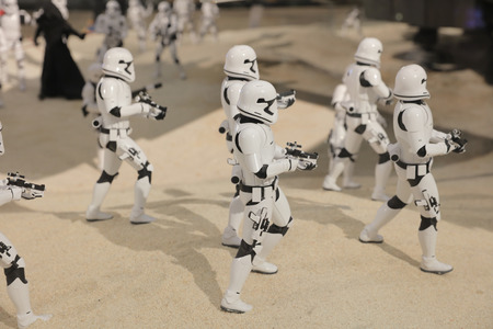 enactment: the army of miniature model Stormtroope Editorial