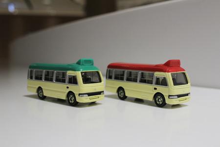 mini bus: the mini bus toys at hong kong Stock Photo