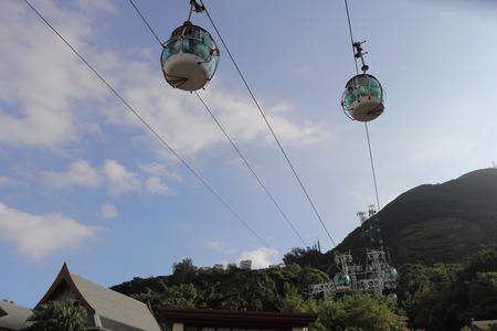 the Hong Kong Cable Car at ocean park